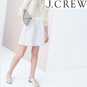 J. Crew Black Label White Lace Stripe Skirt 4